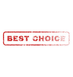 best choice rubber stamp vector image vector image