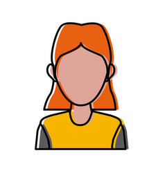 character woman head happy person image vector image vector image
