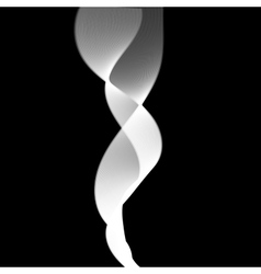 Delicate smoke waves on black background vector image