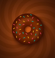 donut chocolate vector image