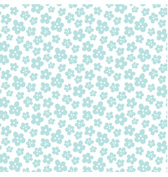 mini black flowers vector image