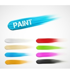 Paint strokes vector image vector image