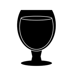 silhouette glass cocktail cup drink party vector image vector image