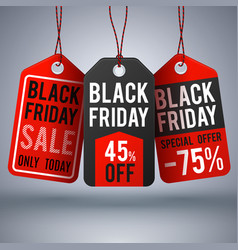 black friday shopping background with paper vector image vector image
