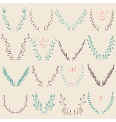 Floral Graphic Design Elements Collection vector image vector image