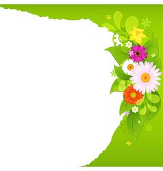 Fragmentary Paper With Flowers vector image