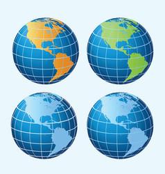 Globe americas vector