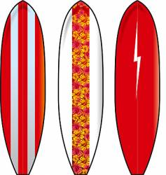 long boards vector image vector image