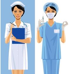 Nurses vector image