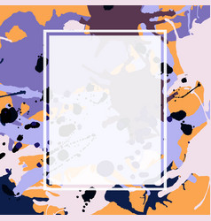 purple lilac orange brown ink splashes ellipse vector image vector image