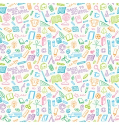 School supplies seamless vector image