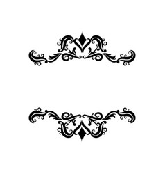 vignette decorative crest ornate flourish vector image