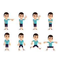 boy in different poses and actions characters vector image vector image