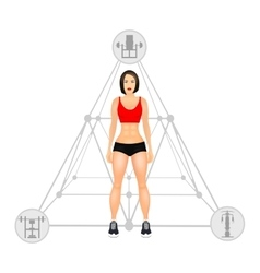 Fitness concept with fit woman in sportswear vector