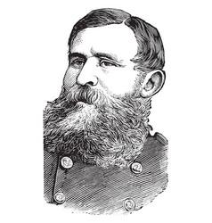 general george crook vintage vector image vector image