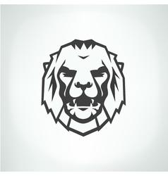 Lion face logo emblem template vector image