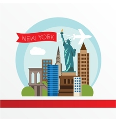 New York detailed silhouette vector image