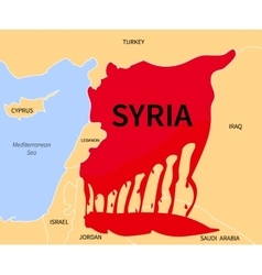 Syria Crisis Refugee War Victims vector image