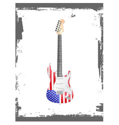 american rock and roll guitar vector image