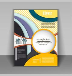 brochure design business vector image vector image
