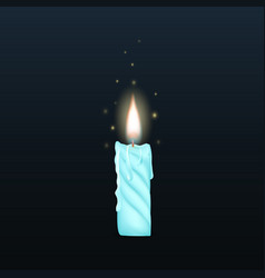 3d realistic wax candle vector image