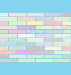 A wall of blocks in pastel colors vector