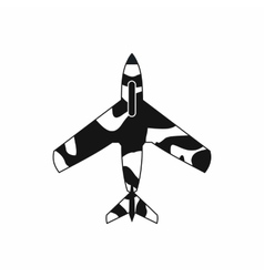 Air force plane icon simple style vector