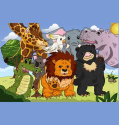 animal kingdom poster vector image
