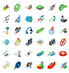 asking icons set isometric style vector image