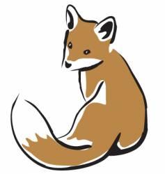 Baby fox vector