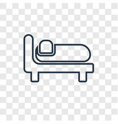 Bed concept linear icon isolated on transparent vector