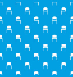black office chair pattern seamless blue vector image