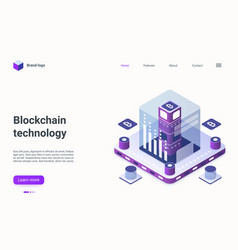 blockchain cryptocurrency business technology vector image