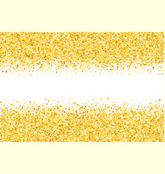 Border with shimmer stars golden frame vector