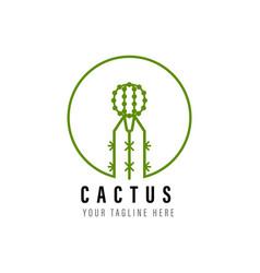 Cactus logo vector