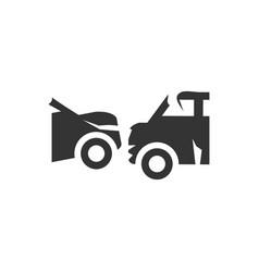 Car collision icon vector