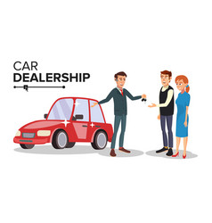 Car dealer car dealership agent auto vector