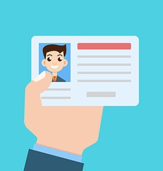 Car driver license in hand vector
