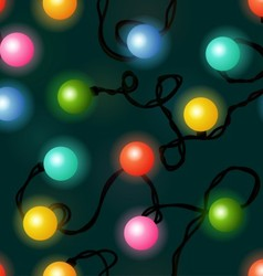 Christmas lights seamless pattern vector image