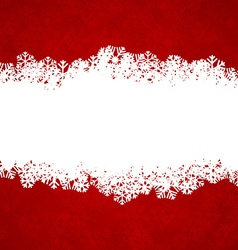 Christmas red background with copyspace vector image