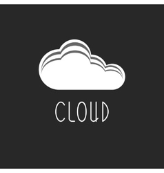 Cloud internet data icon tech logo web sign vector image