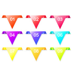 colorful arrow with colorful bright colors vector image