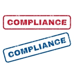 Compliance Rubber Stamps vector