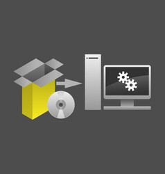 Computer software package installation vector