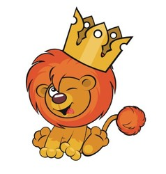 Cute lion crown vector image vector image