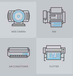 Detailed thin line icons for business vector