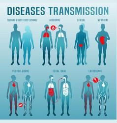 disease transmission image vector image