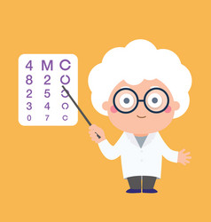 Doctor ophthalmologist cartoon character vector