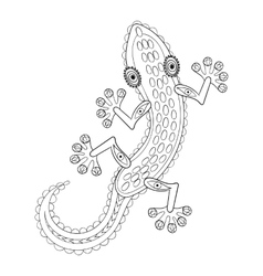 entangle lizard totem for adult anti stress vector image