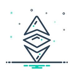 Ethereum coin vector